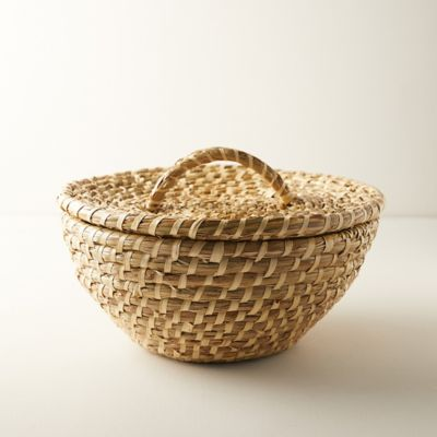 Round Kans Grass Tray with Handles