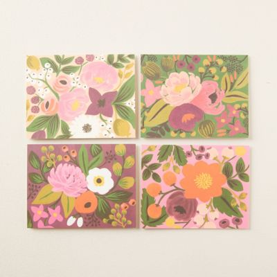 Vintage Blossoms Greeting Cards, Set of 8