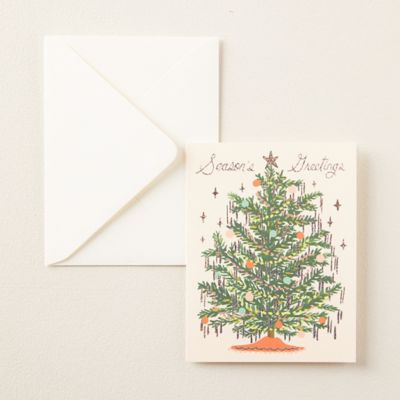Tinsel Tree Greeting Cards, Set of 8