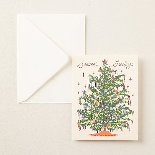 View larger image of Tinsel Tree Greeting Cards, Set of 8
