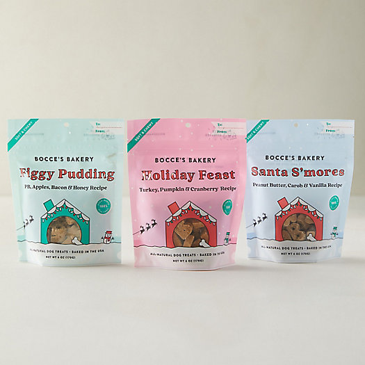 View larger image of Holiday Soft + Chewy Pet Treats, Set of 3