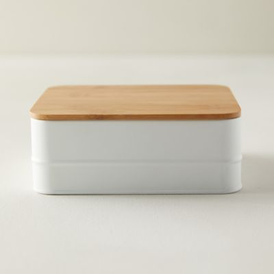 Steel + Bamboo Storage Box