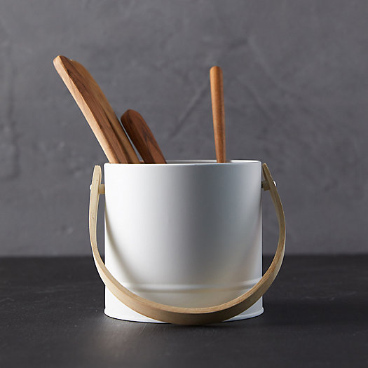 View larger image of Steel + Bamboo Storage Bucket