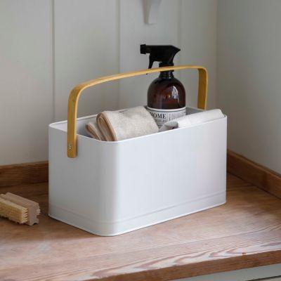 Steel + Bamboo Storage Bucket