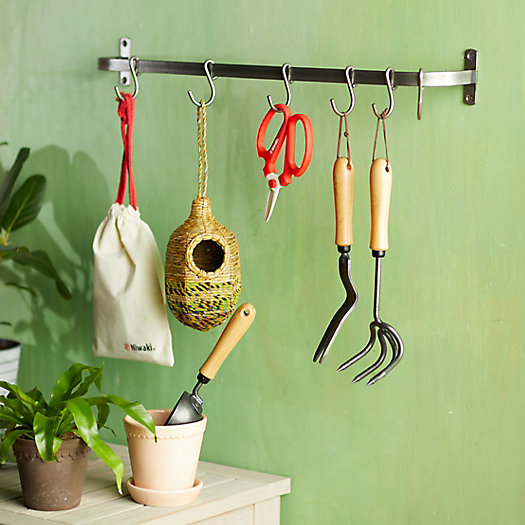 View larger image of Steel Wall Rack with Hooks