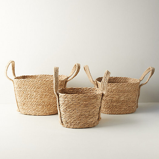 View larger image of Woven Seagrass Baskets, Set of 3