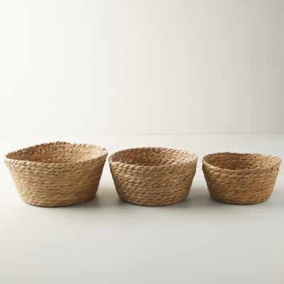 Seagrass Mini Baskets, Set of 3