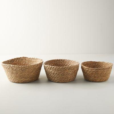 Seagrass Mini Baskets, Set of 3