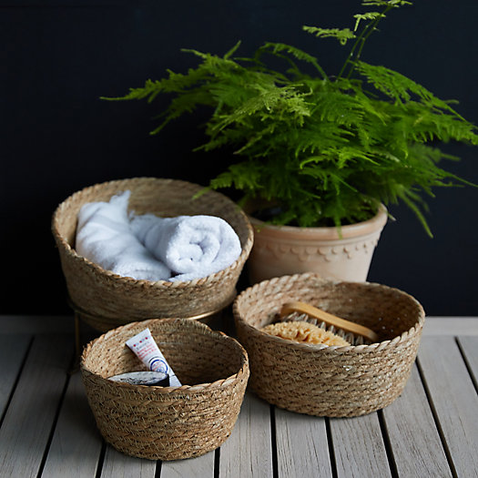 View larger image of Seagrass Mini Baskets, Set of 3