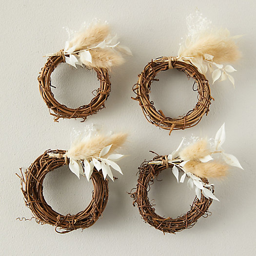 View larger image of Dried Neutrals Napkin Rings, Set of 4