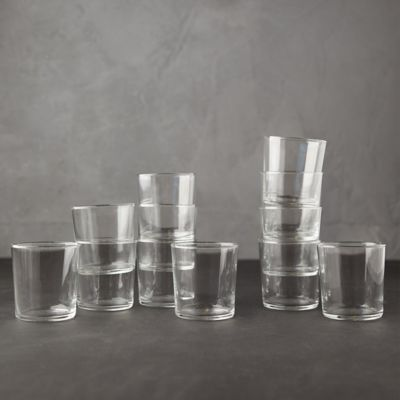 Modern Cafe Glassware, Set of 12