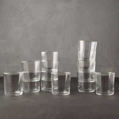 Modern Cafe Glassware, Set of 12