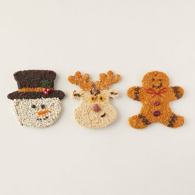 Holiday Bird Seed Cookies, Set of 3