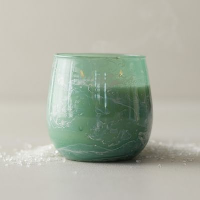 Linnea Marbled Candle, Sea Salt