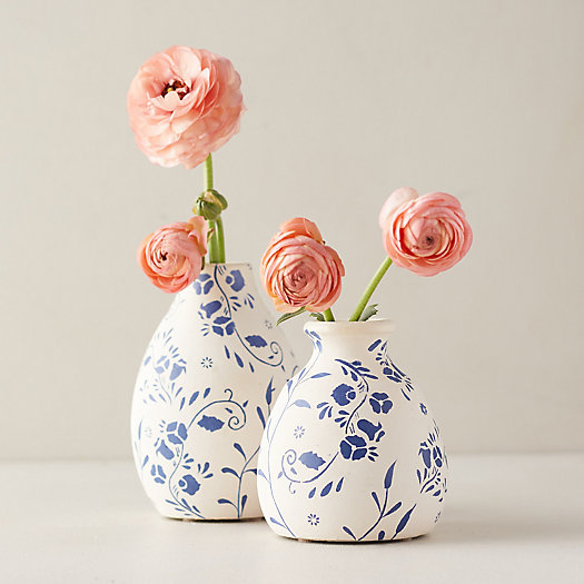 View larger image of Floral Ceramic Bud Vase