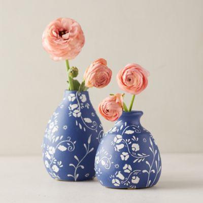 Floral Ceramic Bud Vase