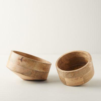 Decorative Wood Storage Bowl