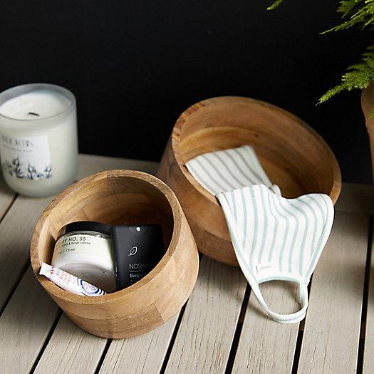 View larger image of Decorative Wood Storage Bowl