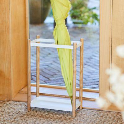 Steel + Wood Umbrella Stand