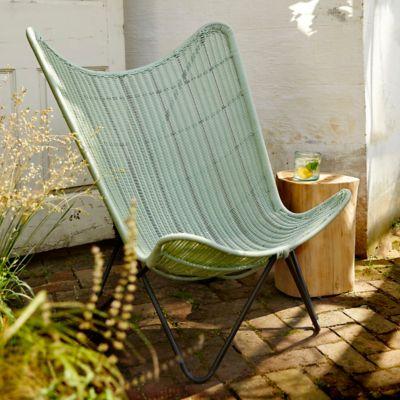 Woven Wicker Butterfly Chair