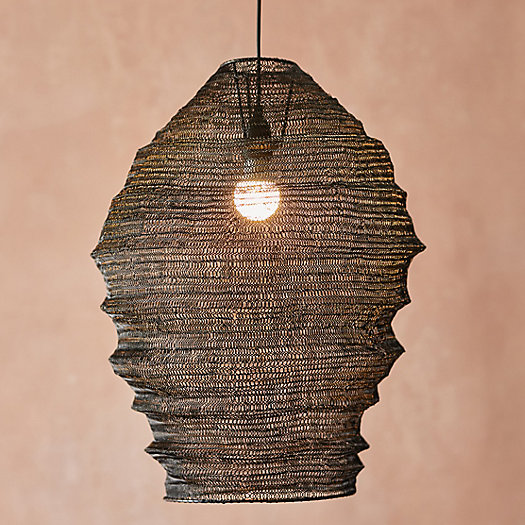 View larger image of Iron Mesh Cocoon Pendant Light