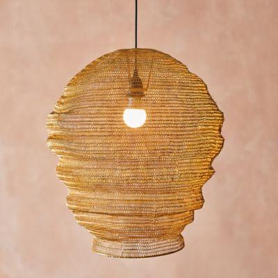 Iron Mesh Cocoon Pendant Light