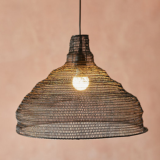 View larger image of Mesh Iron Half Dome Pendant