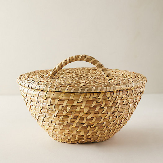 View larger image of Round Seagrass Basket with Handle