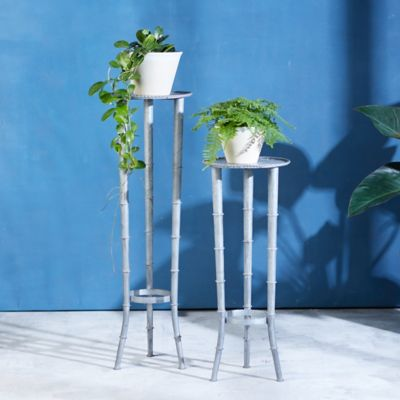 Bamboo Look Iron Plant Stand