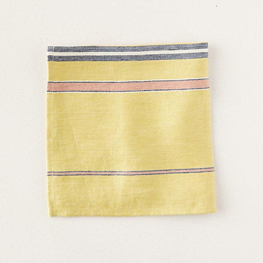 View larger image of Yellow Stripe Linen Napkin