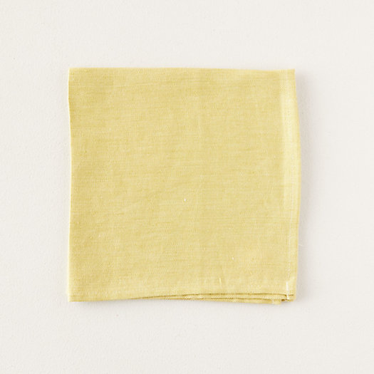 View larger image of Yellow Linen Napkin
