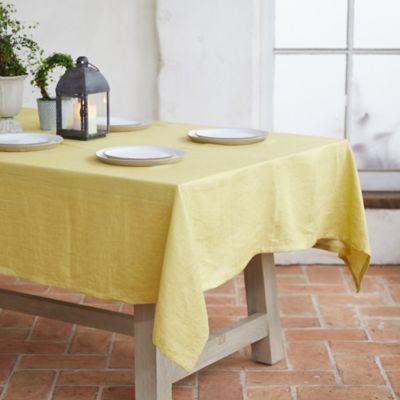 Yellow Linen Tablecloth