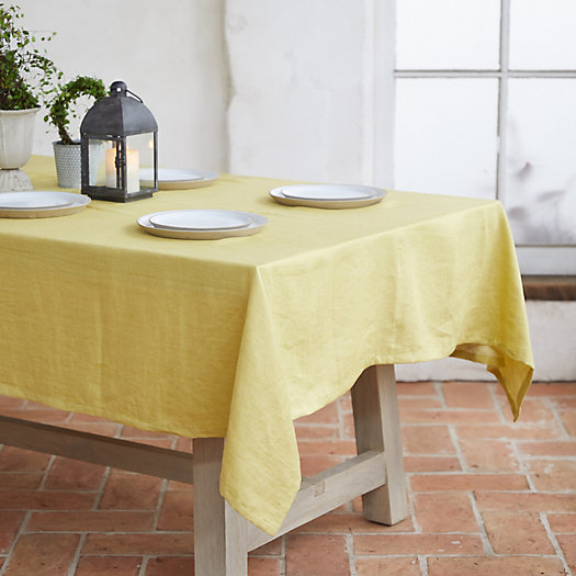 View larger image of Yellow Linen Tablecloth