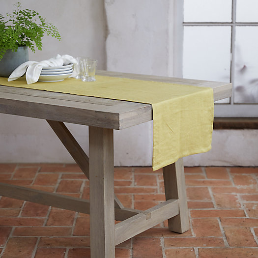 View larger image of Yellow Linen Runner