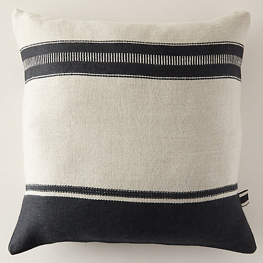 View larger image of Multi Stripe Linen Pillow Cover