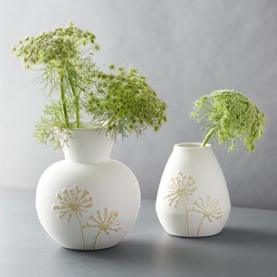 Floral Relief Vase