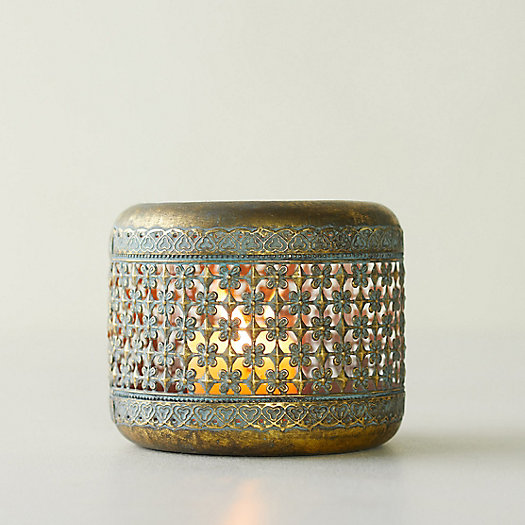 View larger image of Verdigris Punched Iron Votive