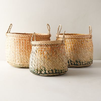 Ombre Seagrass Baskets, Set of 3