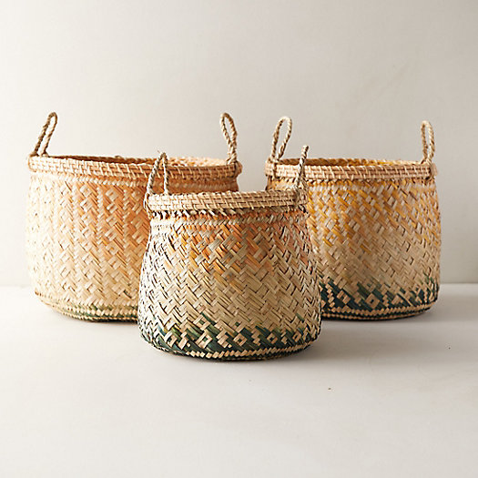 View larger image of Ombre Seagrass Baskets, Set of 3