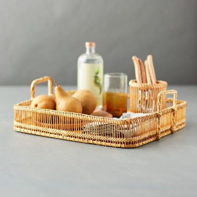 Woven Bamboo Serving Tray