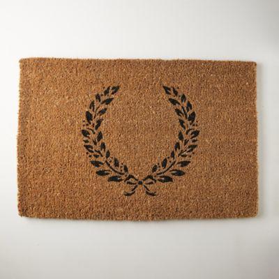 Laurel Doormat, Monogram