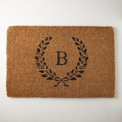 Laurel Doormat, Monogram