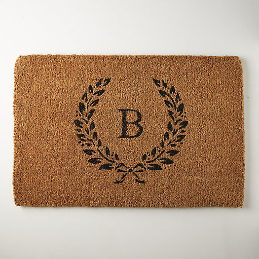 View larger image of Laurel Doormat, Monogram