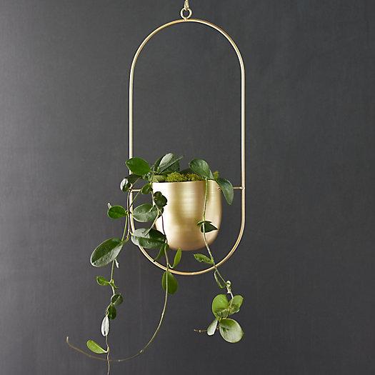 View larger image of Modern Hanging Iron Planter