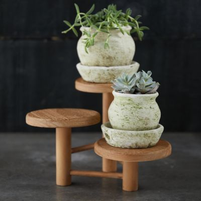 3 Tier Wood Plant Stand