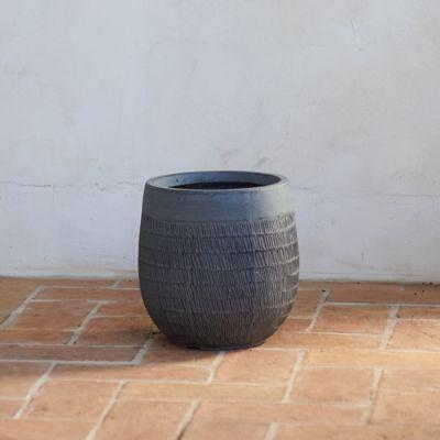 "Textured Cylinder Pot, 11"""