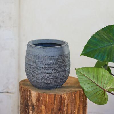 "Textured Cylinder Pot, 8"""