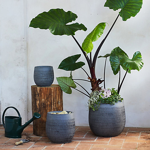"""View larger image of Textured Cylinder Pot, 17"""""""