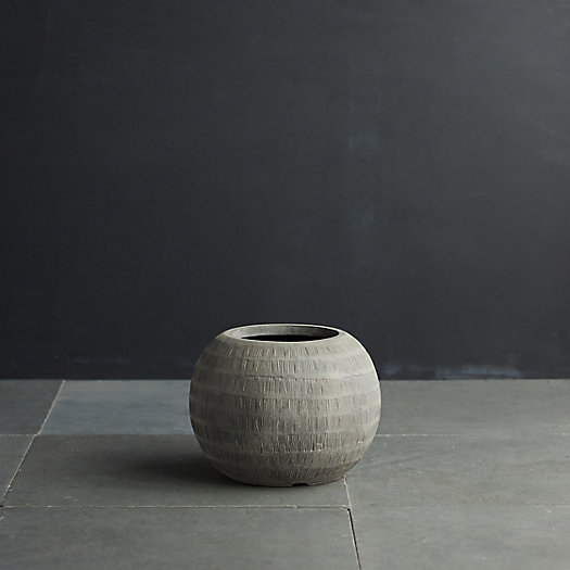 """View larger image of Charcoal Textured Orb Pot, 14"""""""