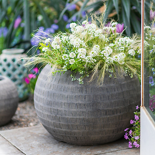 """View larger image of Charcoal Textured Orb Pot, 22"""""""